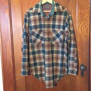 VINTAGE Wool Plaid Button Down